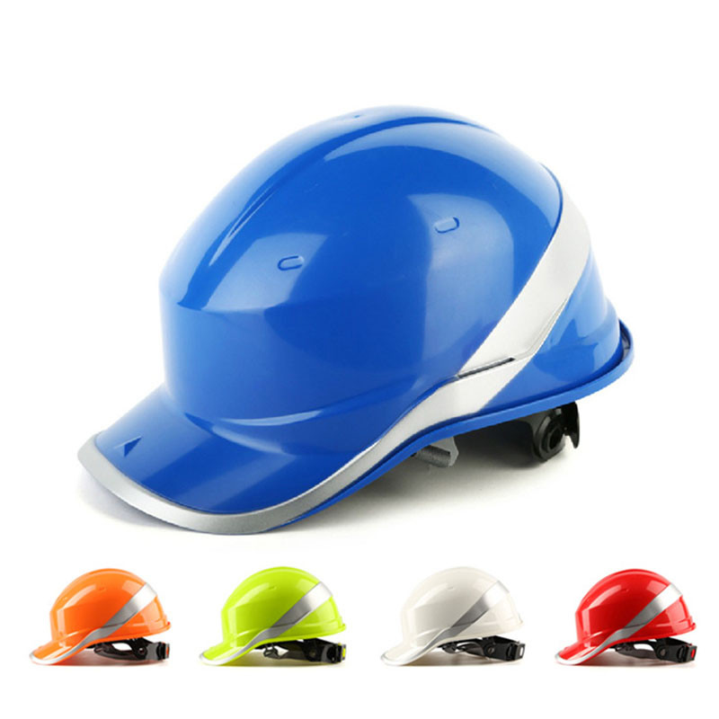 Safety Helmet Hard Hat Work Cap ABS Insulation Material With Phosphor Stripe Construction Site Insulating Protect Helmets high quality safety helmet overhead work rock climbing bike cycling safety hat abs material mountain bicycle safety helmet 397