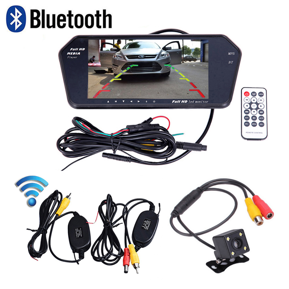 Bluetooth Support Handsfree Ultra Slim 7 U0026 39  U0026 39  Full Screen Car