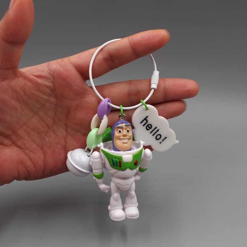 Big Venda Filme Toy Story4 Woody Buzz Lightyear Figura de Ação DO PVC Keychain Figura Boneca Brinquedos Homens Mulheres Crianças Presentes do Keyring