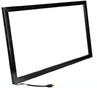 65 inch industrial display ultra thin HD embedded wall mounted 2 point touch screen LCD screen