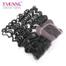 Loose Wave Peruvian Lace Closure,100% Virgin Human Hair Closure 4×4,Aliexpress Yvonne  Hair Products,Natural Color