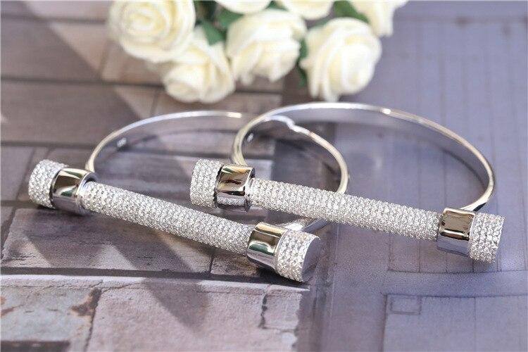 ZOZIRI Monaco célèbre Design célèbre zircon fer à cheval manchettes Bracelets Pulseira Feminina vis u forme Bracelets manchettes bras