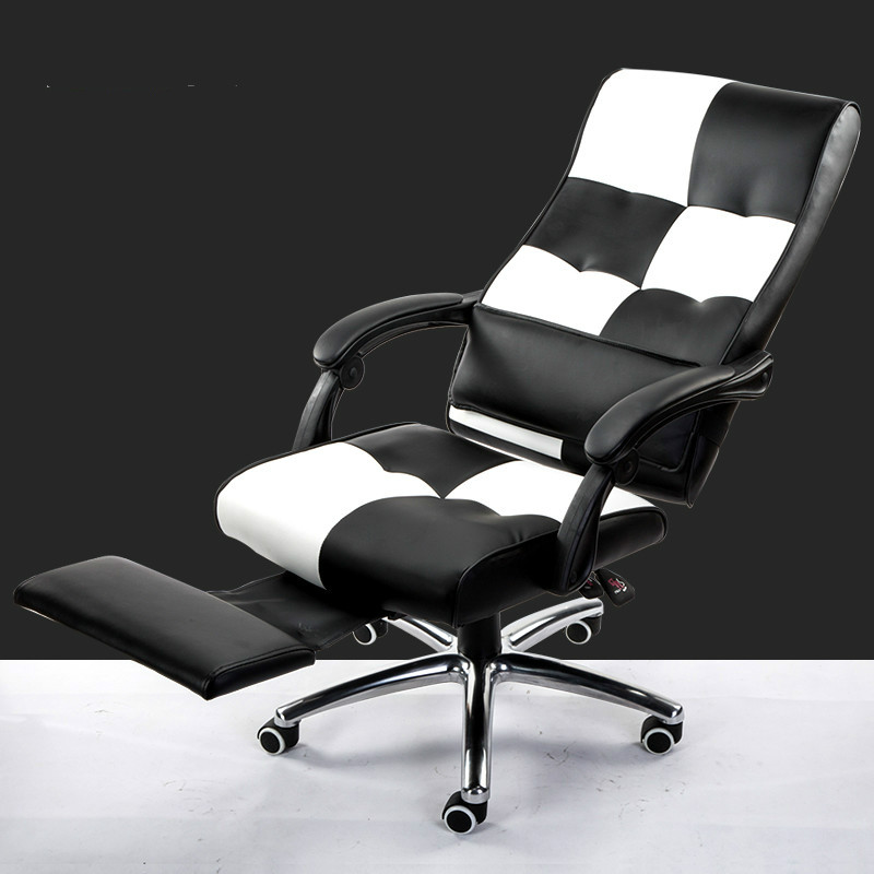 Hight quality swivel leather computer chair home office chair lift ergonomic reclining chair computer chair home office chair mobile no handrail small lift swivel chair mesh staff chair