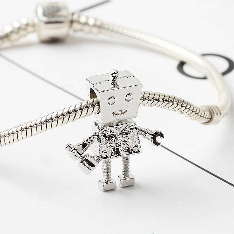 Bella Vriendje ROB BOT CHARM Fit Pandora Armband Ketting Romantische Charms Voor Vrouwen Liefhebbers Bruiloft Sieraden Gift