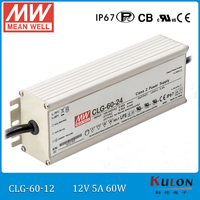 Origianl Meanwell LED Driver 12V 60W 5A CLG 60 12 Mean Well Driver With PFC IP67