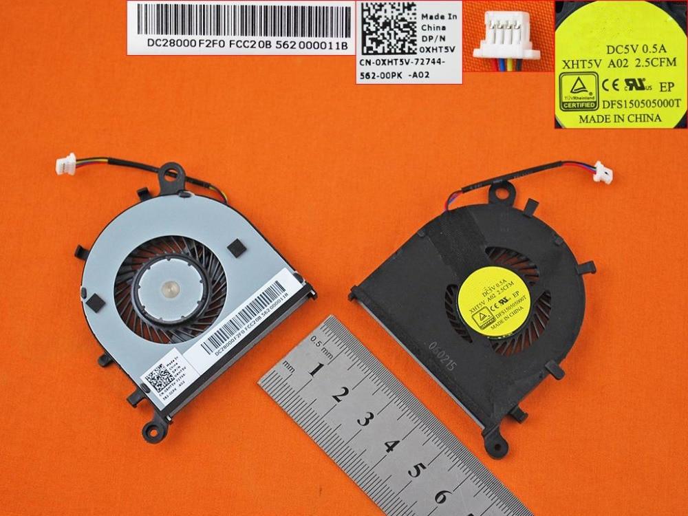 New Laptop Cooling Fan For Dell XPS13 9343 9350 Original PN: XHT5V CPU Cooler Radiator