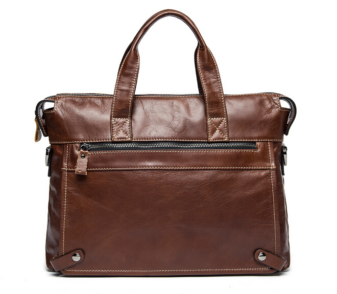 Fasion Genuine Leather Bag Business Men Bags Laptop Tote Briefcases Crossbody Bags Shoulder Handbag Men's Messenger Bag
