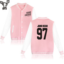BTS Baseball Jacket BTS Sweatshirt Women Cotton Korean Bangtan Winter Women Hoodies Sweatshirts Fashion Casual Jacket Clothes