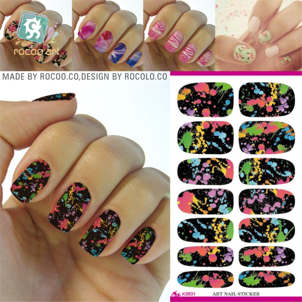 Wholesale Water Transfer Nail Foil Sticker Art Black Color Graffiti Nail Wraps Sticker Cartoon 3D Manicure Decor Decal Nail Tool