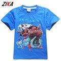 ZiKa Alta Qualidade Do Bebê Da Menina do Menino T Camisa Moana Princesa meninos Meninas Verão Tops de Algodão de Manga Curta T-shirt das Crianças 3-10 ano