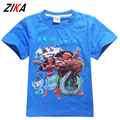 ZiKa High Quality Baby Boy Girl T Shirt Moana Princess Boys Girls Summer Tops Short Sleeve Cotton Children's T-shirts 3-10 Year