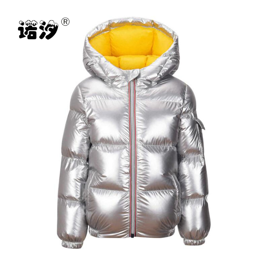 все цены на Girls clothes kids winter thickening white duck down jacket baby boys warm coat girls tops children clothing 3-11Y child clothes