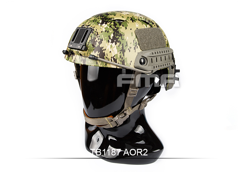 ФОТО FMA Tactical Fast BJ Base Jump Type Adjustable Helmet  Side Rail For Airsoft Paintball