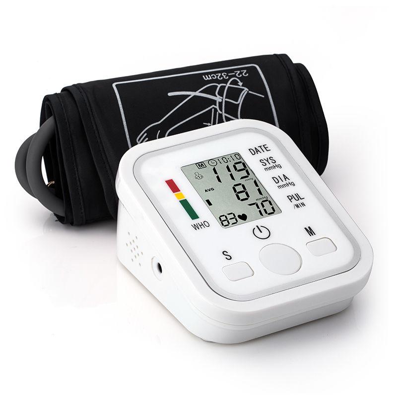 Digital Upper Arm Blood Pressure Pulse Monitor tonometer Portable health bp Blood Pressure Monitor meters sphygmomanometer X005 bp monitor digital upper arm blood pressure pulse monitors sphygmomanometer tonometer portable meters with cuff oximeter probe
