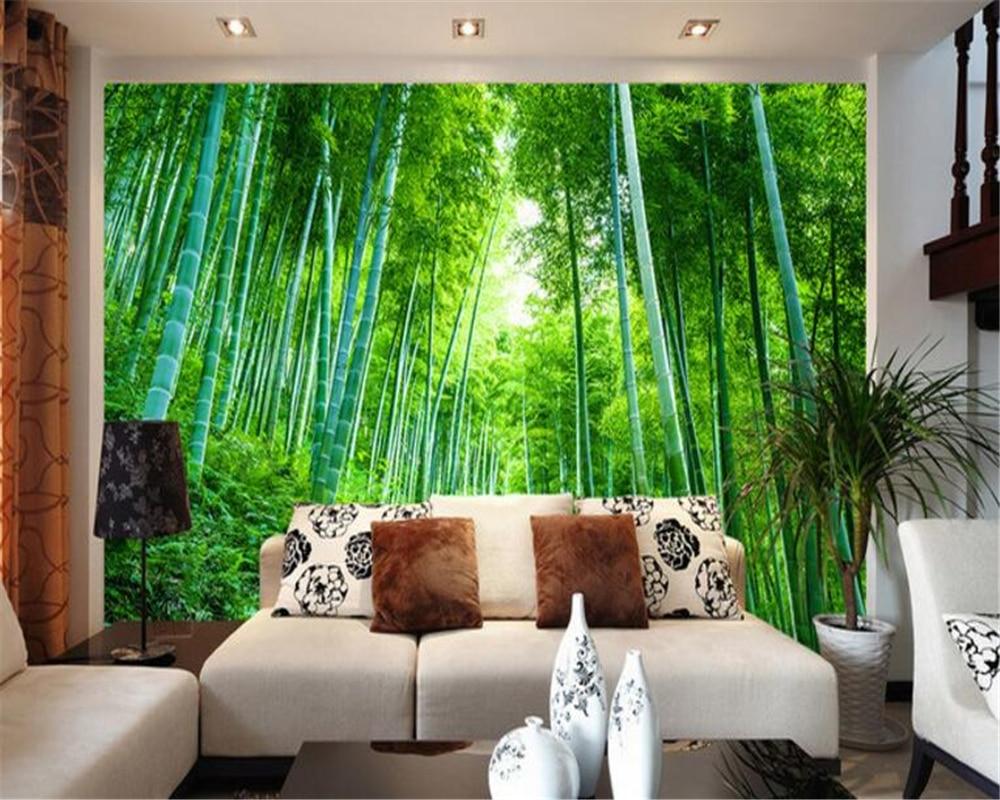 living landscape bamboo garden fresh wallpapers beibehang 3d homebase bedroom via aliexpress