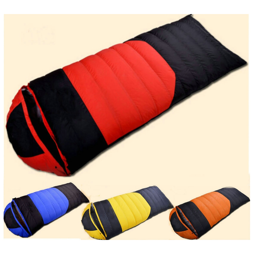 Portable Thicken Envelope Type Duck Down Sleeping Bag Travel Sleep Sack Camping Travelling Hiking Outdoor Sleeping Gear nature portable multifuntional ultralight mini duck down mummy shape outdoor camping travel hiking sleeping bag 1100g 2 colors