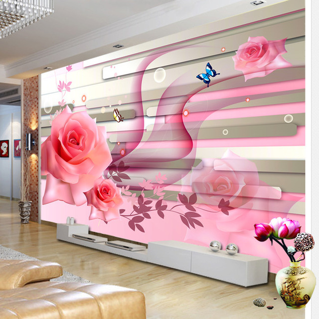 Awesome TV background wall wallpaper Chinese living room 3D visual ...