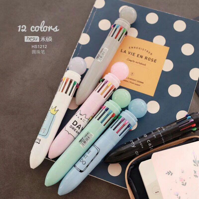 Your King Lovely Day Cartoon 12 Colors Chunky Ballpoint Pen School Office Supply Gift Stationery Papelaria Escolar