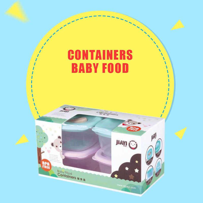 4 Buah/Set Anak-anak Hidangan Makanan Tambahan Kotak Penyimpanan Desain Skala Set Peralatan Makan Portabel Bayi Mangkuk Bayi Makanan Ringan Mangkuk