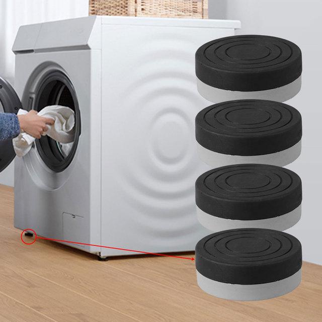 4Pcs Washing Machine Anti-Vibration Pads Heavy Duty Washer Dryer Pad Furniture Non Slip Raise Height Feet Floor Protectors Mat