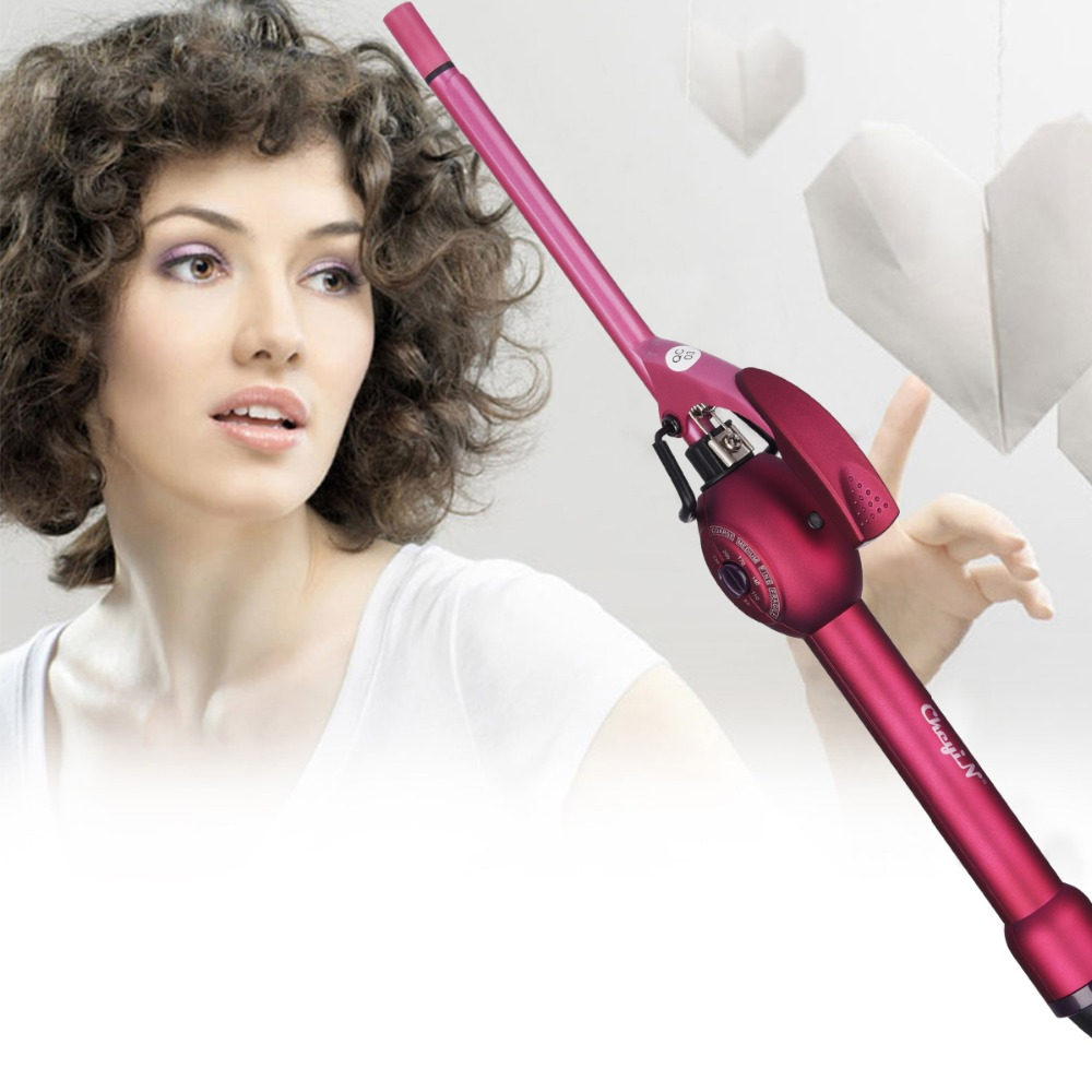 9mm Deep Curly Hair Styler Curls Ceramic Curling Iron Fashion Wand Curler Pear Hair Curlers Rollers High Quaity Curling Wand 45