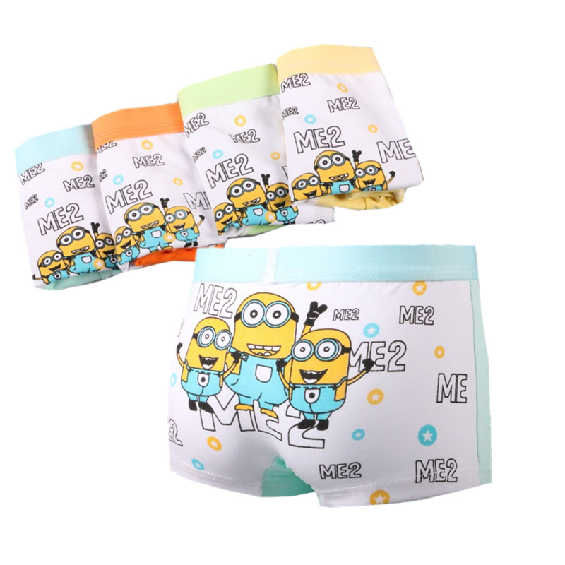 3Pc/lot Boys Cute Cartoon Boxers Children's Pure Cotton Soft  Ventilate Underpants Boxers Pant 2-10 Years