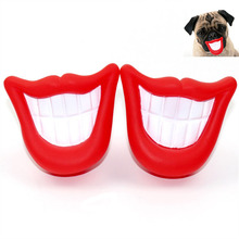 New Arrive Safe Funny Squeak Dog Toys Flaming Lips Sound Chew Toys Make The Dog Happy Pet Puppy Toys Supplies