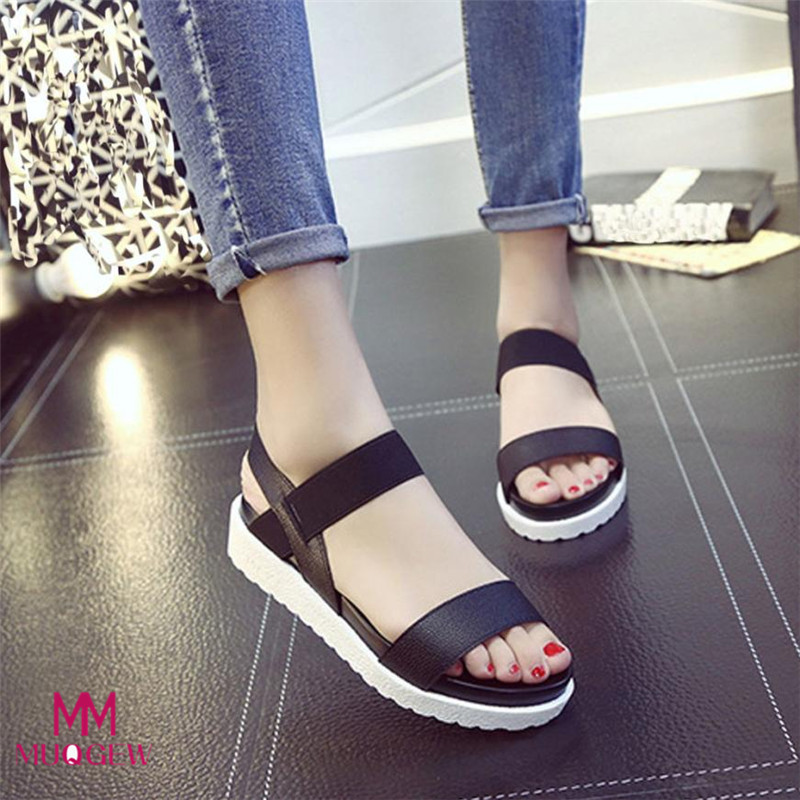 2018 Fashion Indoor&Outdoor Fashion Sandals Women Aged Leather Flat Sandals Ladies Shoes Women Summer Casual Shoes Comfortable 2018 summer gladiator thong sandals women aged leather flat fashion women shoes casual comfortable diamond female sandals b128