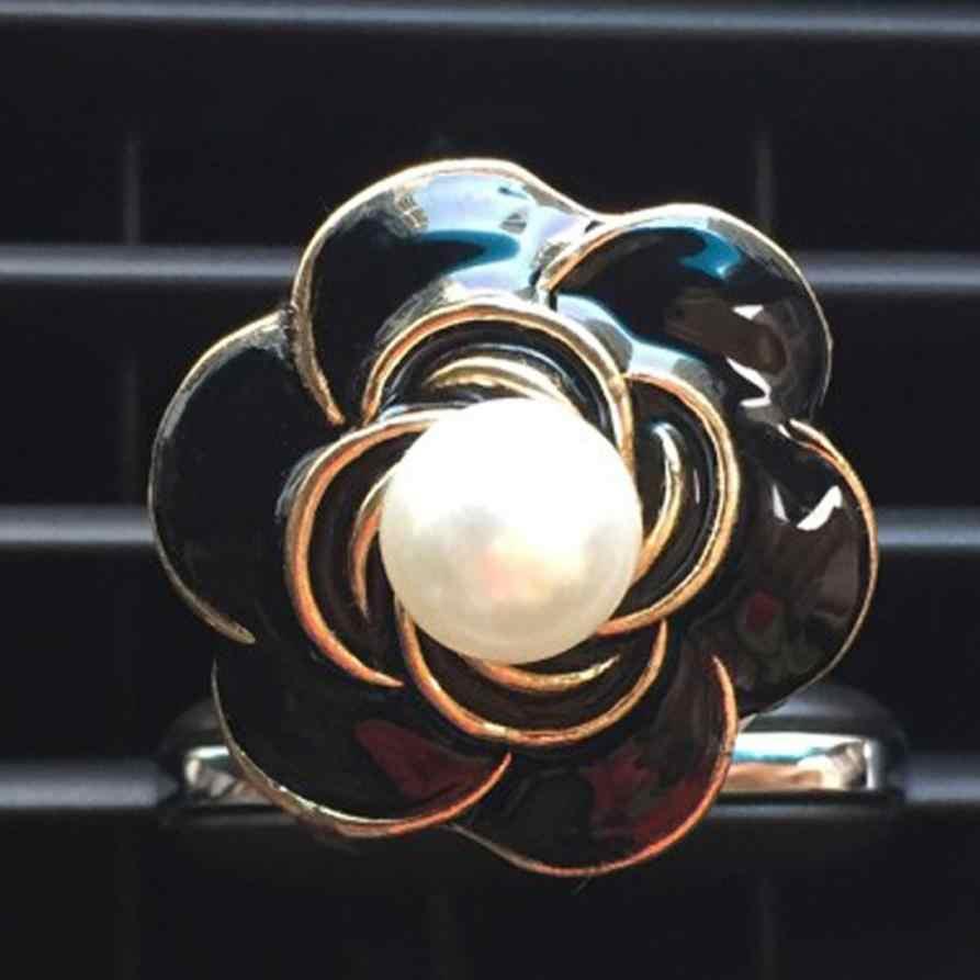 Amar Presente do carro de Saída de Ar Perfume Perfumado Flor Camélia Difusor Ambientador Janu 8