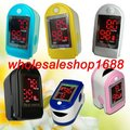 Wholesale fingertip Pulse oximeter Pulse monitor + case spo2 FREE shipping