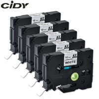 CIDY Compatible laminated tze 231 tz231 tze231 12mm Black on white Tape tze-231 tz-231 for brother p-touch printer tze-131