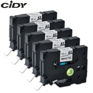 Image 1 - CIDY Compatible laminated tze 231 tz231  tze231 12mm Black on white Tape tze 231 tz 231 for brother p touch printer tze 131