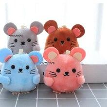 Новые 4 цвета, 8 см прибл., милые маленькие Мини-мышки плюшевые игрушки куклы, детские животные плюшевые игрушки