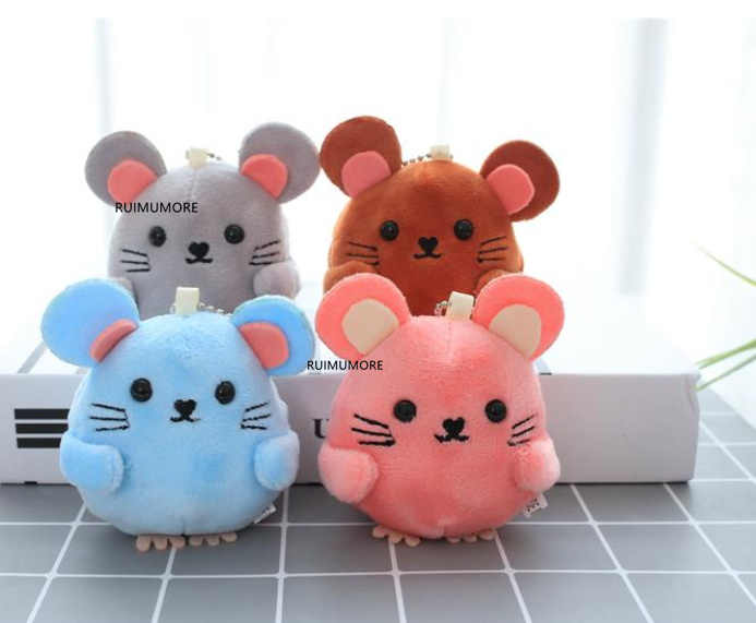 New 4Colors , 8CM Approx, Cute Little Mini Mouse Plush Stuffed Toys Dolls , Baby Animal Plush toys