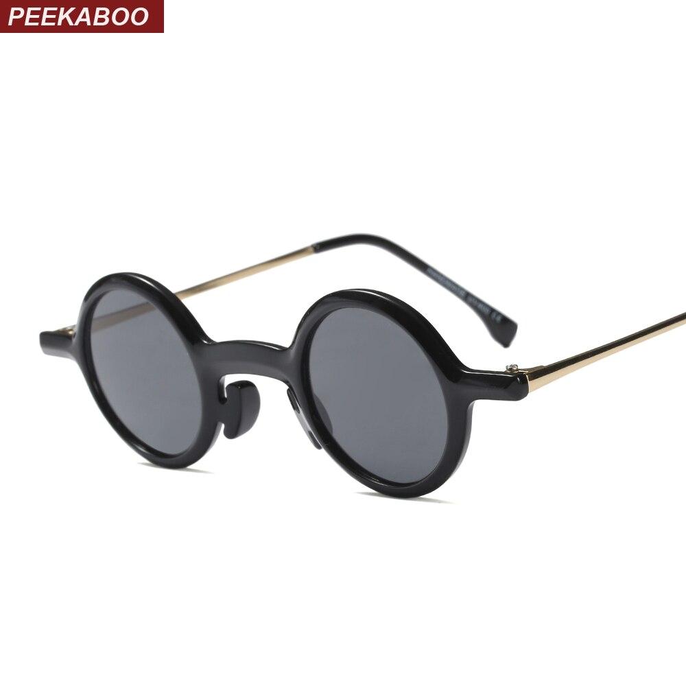 Sonnenbrillen Ehrlichkeit Peekaboo Kleine Runde Sonnenbrille Frauen Retro 2018 Leopard Schwarz Halb Metall Vintage Runde Sonnenbrille Für Männer Geschenk Uv400 Letzter Stil