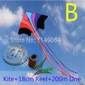 Frete grátis alta qualidade voando pipa arco-íris with100m ripstop de tecido linha pega pipa crianças pipas fábrica chinesa pipa voando