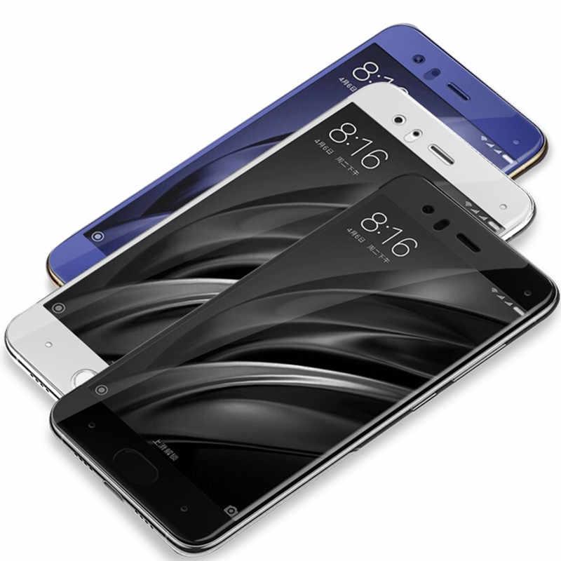 3D フルスクリーンカバー mi 6 強化ガラス xiaomi 6 mi 6 mi 6 6E 6 p mi 6E mi 6 p mi 6 xiaomi 6 保護 5.15 インチ白、黒、青