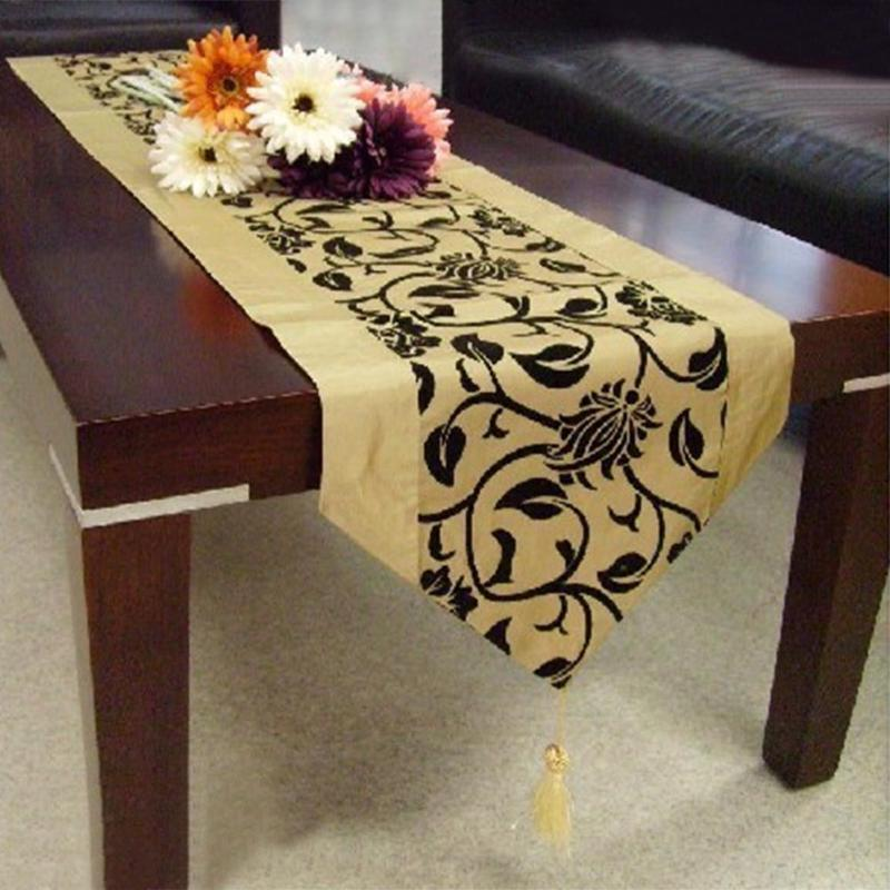 Table Runners Modern Kitchen Table Cloth Home Decoration Flocking Tablecloth Home Banquet Party Supplies Home Textile Dust Cover