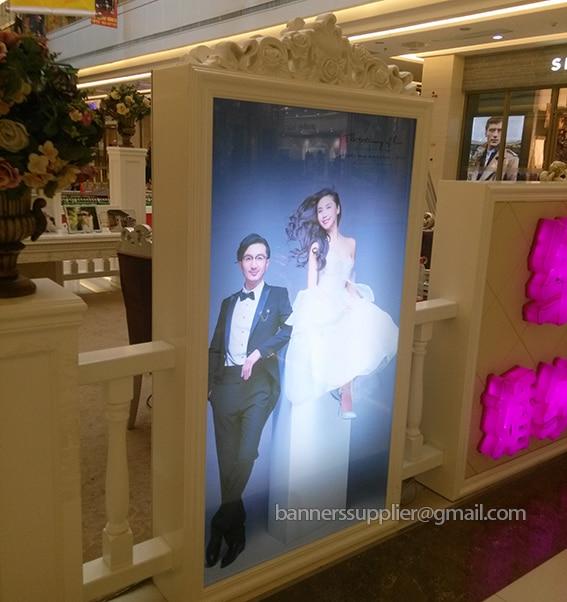 Film d'impression couleur PET blacklit pour lightbox et utilisation pour intérieur ou extérieur