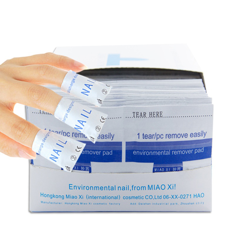 20pcs High Quality Gel Polish Remover Wraps Pads Soak Off Nail Art Wet Wipes Paper Pad Nail Manicure Tool Cleaner For LED UV Gel