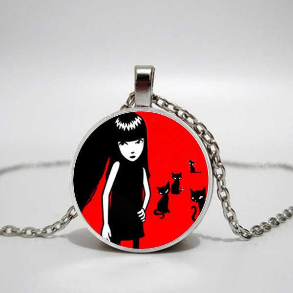 Collier Emo fait main Emily étrange Colar Longo collier gothique. Convexe pendentif collier