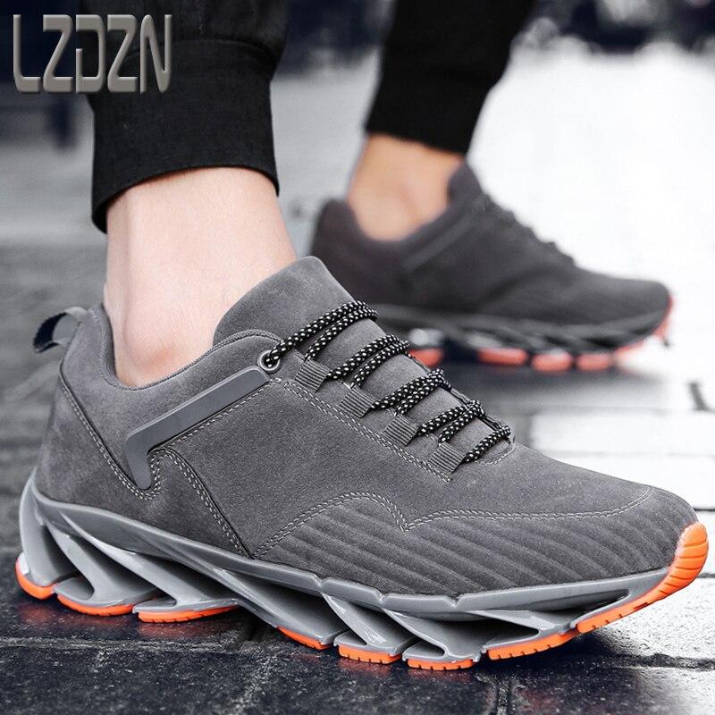Da Sapatos Dos Couro Bege Grife Homens Moda Mocassins Hop Coreano Os cinza Natural preto De Casuais azul Tênis Para q4BFBtgprW