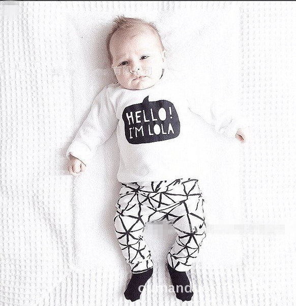 2019 autumn baby boy clothes Long sleeve Top + pants 2pcs sport suit baby girl clothing set newborn infant clothing baby garment