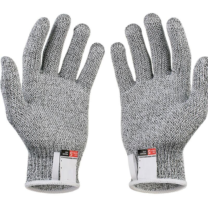 Anti-cut Gloves Safety Cut Proof Stab Resistant Stainless Steel Wire Metal Mesh Kitchen Butcher Cut-Resistant Safety Gloves rebune cut resistant working gloves with stainless steel wire protective safety gloves metal tactical butcher steel glovesre8004