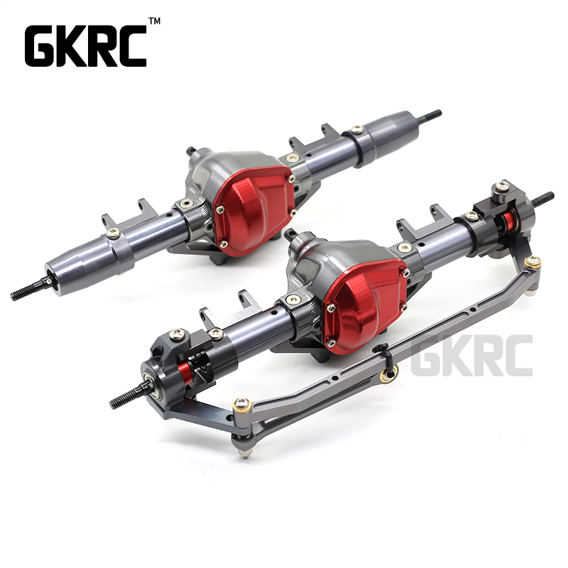 High Quality Alloy Metal Front & Rear Axle For 1/10 RC Crawler Car Cherokee Axial Scx10 Front axle Rear axle Upgrade parts-in Parts & Accessories from Toys & Hobbies    1
