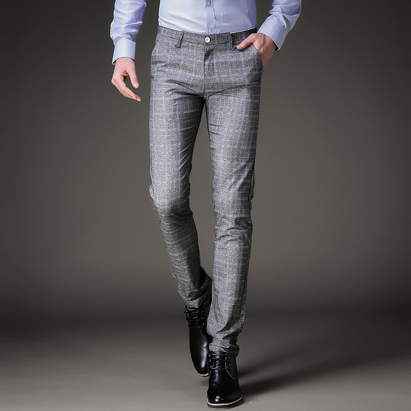 Wedding Pant Suits.Us 20 58 51 Off Fashion Mens Dress Pants Summer Formal Pants Slim Fit Suit Plaid Pants Business Casual Plus Size Wedding Pant Suits Men Trousers In