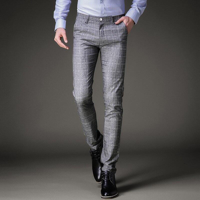 Braydendp4434 Comprar Pantalones De Vestir Moda Para Hombre Formales Verano Traje Ajustado A Cuadros Informales Negocios Talla Grande Trajes Pantalon Boda Online Baratos