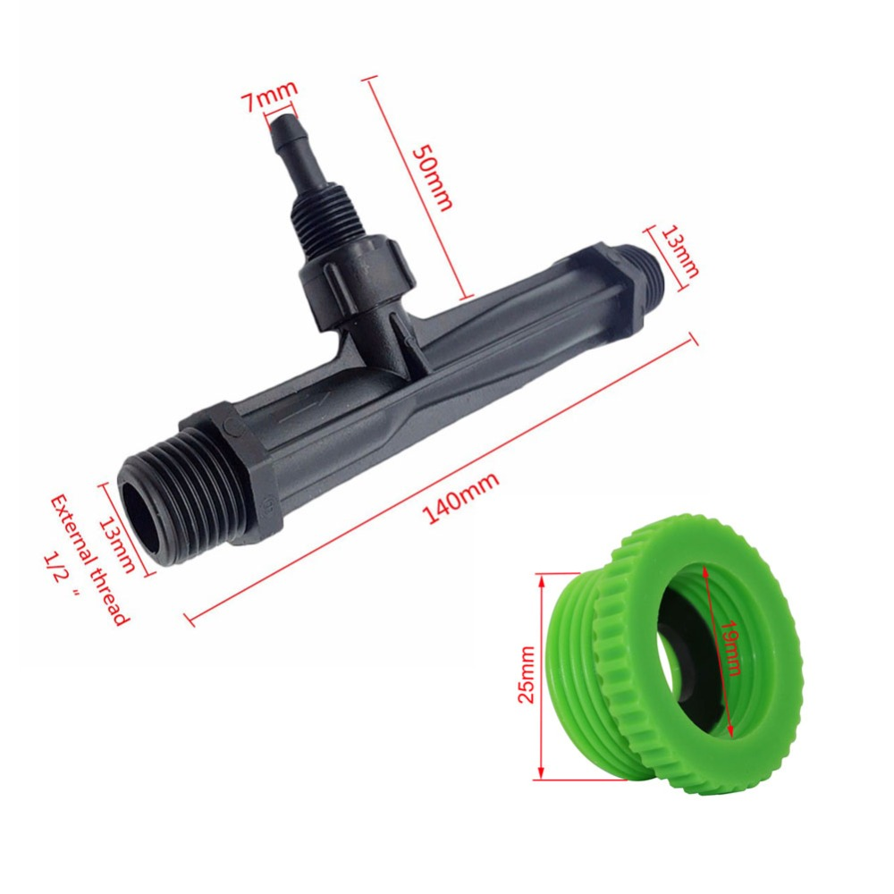 "Irrigation Venturi tube 1/2"", 3/4"", 1"" male thread Agriculture Venturi Fertilizer Injector Automatic Fertilization 1 Pcs 1"