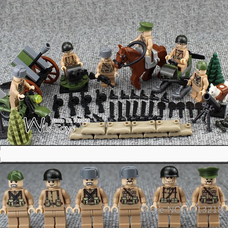 Blocos 6 pcs neve soldados das Classification : Assemblage