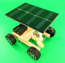 608a88308e8 Energia Solar DIY Kits de Ciência Tecnologia de Tração Nas Quatro Rodas Do  Carro Elétrico Modelo Montagem Brinquedo Educação Exp..